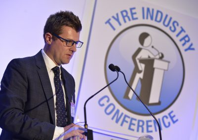 Ben Harrison of Jelf Beaumonts speaking at NTDA Tyre Industry Conference (5)