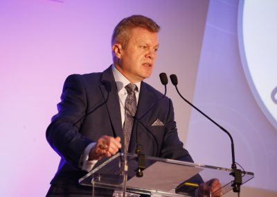 Stefan Hay NTDA Chief Executive speaking at 2018 NTDA Tyre Industry Conference